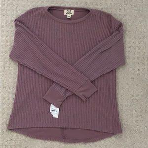 Sweaters - Long Sleeve Waffle Sweater